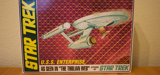 "AMT's USS Enterprise model, from ""The Tholian Web"" episode."