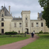 Approaching the Chateau de Breze.